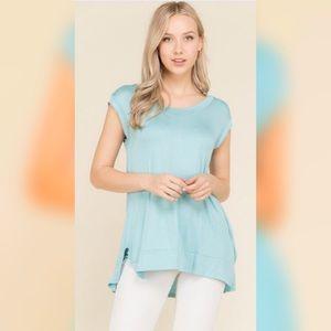 Tops - Aqua loose fit tunic